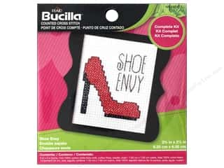 Bucilla Counted Cross Stitch Kit 3 in. Mini Shoe Envy