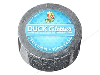 "Duck Brand Glitter Craft Tape Mini .75""x 5yd Black"
