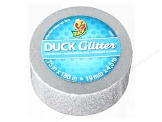 "Duck Brand Glitter Craft Tape Mini .75""x 5yd Silver"