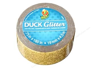 "Duck Brand Glitter Craft Tape Mini .75""x 5yd Gold"