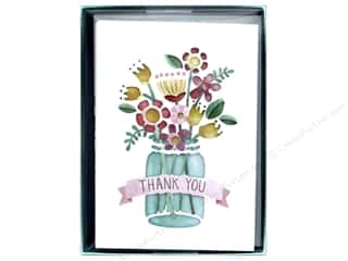 die cuts: Molly & Rex Card Note Box Die Cut Thank You Floral