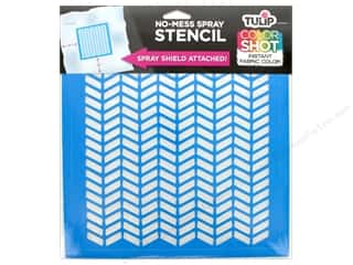 "craft & hobbies: Tulip Fabric Stencil Color Shot 10""x 10"" Herringbone"
