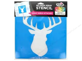 "Tulip Fabric Stencil Color Shot 10""x 10"" Deer"