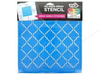 "Tulip Fabric Stencil Color Shot 10""x 10"" Lattice"