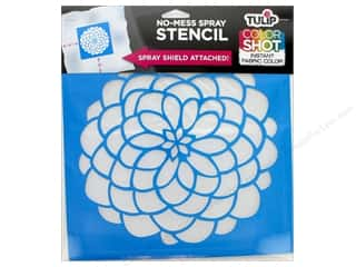 "craft & hobbies: Tulip Fabric Stencil Color Shot 10""x 10"" Dahlia"