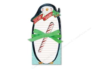 Clearance: Lady Jayne Note Pad Holiday Die Cut With Pen Penguin
