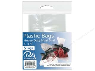 "PA Essentials Bag Heavy Duty Heat Seal 3""x 4"" Clear 5pc"