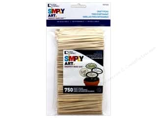 craft & hobbies: Loew Cornell Simpy Art Craft Picks 3 1/2 in. 750 pc.