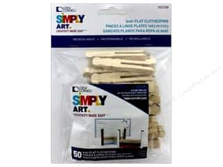 craft & hobbies: Loew Cornell Simpy Art Baby Flat Clothespin 50 pc.