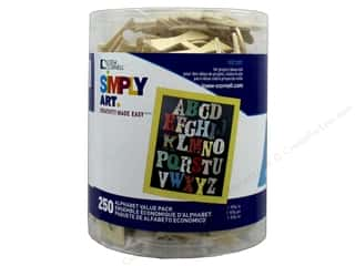 Loew Cornell Wood Shapes Alphabet Value Pack 250 pc.
