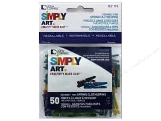 craft & hobbies: Loew Cornell Simply Art Wood Tiny Spring Clothespins 50 pc. Colored