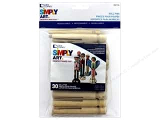 craft & hobbies: Loew Cornell Simpy Art Doll Pins 30 pc.