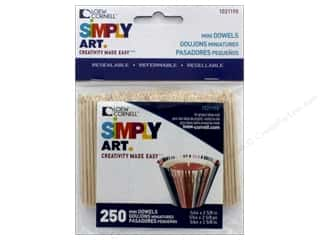 Loew Cornell Simpy Art Mini Wood Dowels 5/64 x 2 5/8 in. 250 pc.