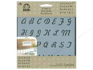 craft & hobbies: Plaid Folkart Stencil 6 x 6 in. Romantic Script