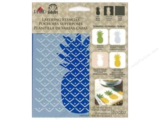 craft & hobbies: Plaid Folkart Layering Stencils - Pineapple