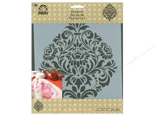 "Plaid Stencil Folkart 8.5""x 9.5"" Damask"