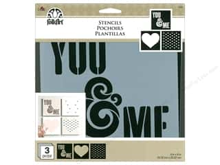 craft & hobbies: Plaid FolkArt Craft Stencils Value Packs - You & Me