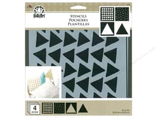 craft & hobbies: Plaid FolkArt Craft Stencils Value Packs - Triangles
