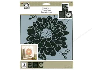 "craft & hobbies: Plaid Stencil Folkart 8.5""x 9.5"" Garden 3pc"