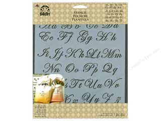 "craft & hobbies: Plaid Stencil Folkart 8.5""x 9.5"" Flourish Script"