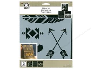 craft & hobbies: Plaid FolkArt Craft Stencils Value Packs - Wild & Free