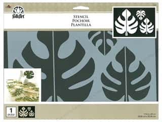 "craft & hobbies: Plaid Stencil Folkart 11.75""x 8.25"" Tropical Leaf"