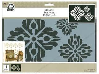 "craft & hobbies: Plaid Stencil Folkart 11.75""x 8.25"" Ikat"