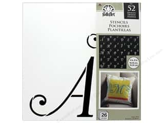 "Plaid Stencil Folkart 12""x 12"" Script Monogram 26pc"