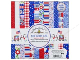 "Doodlebug Collection Yankee Doodle Paper Pad 6""x 6"""