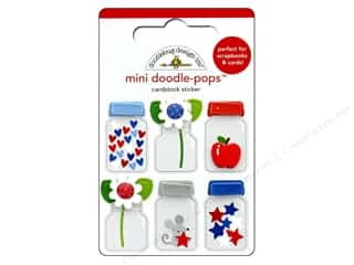 stickers: Doodlebug Collection Yankee Doodle Doodle Pops Teensy Treasures