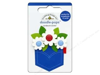 stickers: Doodlebug Collection Yankee Doodle Doodle Pops Pocket Full Of Posies