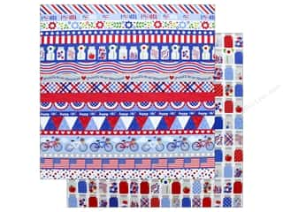 "Buttons: Doodlebug Collection Yankee Doodle Paper 12""x 12"" Pint Size Treasures (25 pieces)"