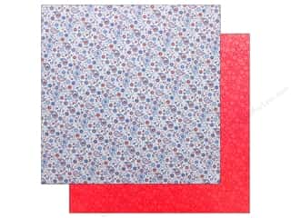 "Doodlebug Collection Yankee Doodle Paper 12""x 12"" Patriotic Paisley (25 pieces)"