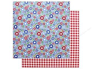"""scrapbooking & paper crafts: Doodlebug Collection Yankee Doodle Paper 12""""x 12"""" Festive Flowers (25 pieces)"""