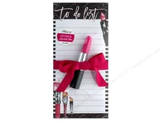 ribbon: Lady Jayne Note Pad Magnetic List With Pen Lipstick