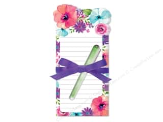 Lady Jayne Note Pad Die Cut Floral With Pen Poppy Rose