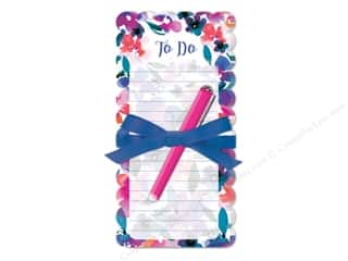 die cuts: Lady Jayne Note Pad Die Cut Floral With Pen Tropical