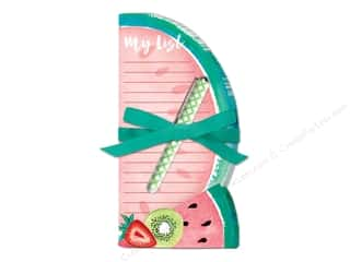 Lady Jayne Note Pad Die Cut With Pen Tropical Watermelon
