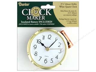 Darice Clock Arabic Quartz White