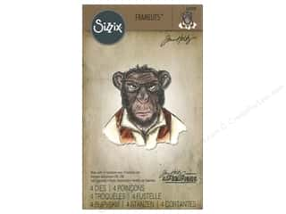 Sizzix Tim Holtz Framelits Die Set 4 pc. Hipster Chimp
