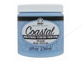 craft & hobbies: Plaid Folkart Coastal Texture Paint 8 oz. Largo Blue