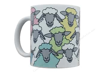 Happy Lines Knit Ceramic Mug Colorful Sheep