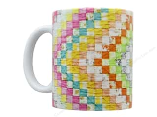 Happy Lines Quilt Ceramic Mug Diamond Vintage Quilt