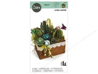 die cutting machines: Sizzix Dies Lynda Kanase Thinlits 2D & 3D Succulents