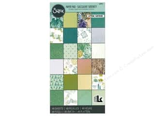 Sizzix Accessories Lynda Kanase Paper Pad Succulent Serenity