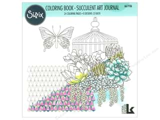 books & patterns: Sizzix Lynda Kanase Coloring Book Succulent Art Journal