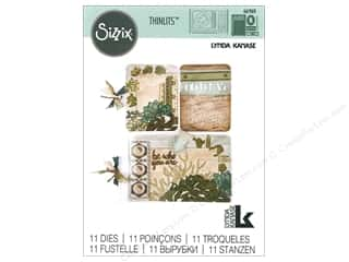 dies: Sizzix Dies Lynda Kanase Thinlits Journaling Cards