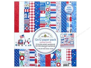 "Doodlebug Collection Yankee Doodle Paper Pack 12""x 12"""