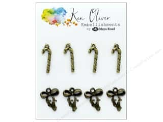Maya Road Products Ken Oliver Vintage Charms Bow & Candy Cane