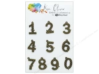 scrapbooking & paper crafts: Maya Road Products Ken Oliver Vintage Charms Numbers